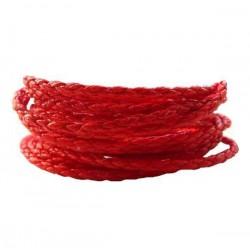 Remienok pletený, červený 2,5mm /0,5m
