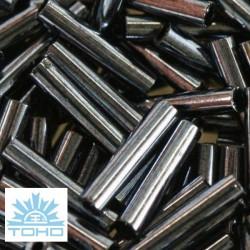 TOHO rokajl (Bugle 9mm) Metallic hematite