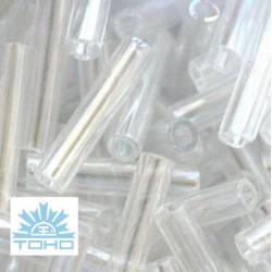 TOHO rokajl (Bugle 9mm) Trans-rainbow crystal