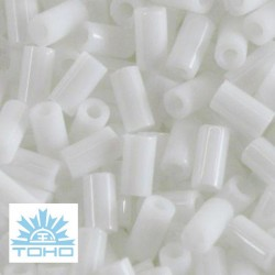 TOHO rokajl (Bugle 3mm) Opaque white