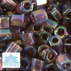 TOHO rokajl (Hex 3mm) Trans-rainbow amethyst