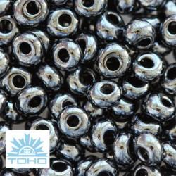 TOHO rokajl (Magatama 3mm) Metallic hematite
