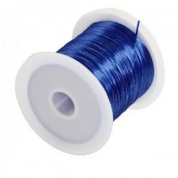 Elastický silikónový vlasec modrý