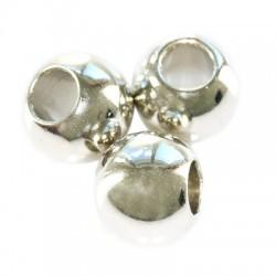 Korálky - kovový vzhľad, 6mm, veľký otvor