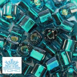 TOHO rokajl (Cube 3mm) Silver-lined teal