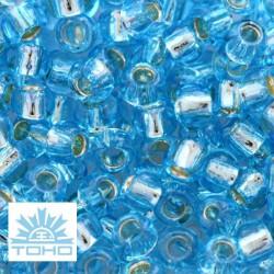 TOHO rokajl (Round 3mm) Silver-lined aquamarine