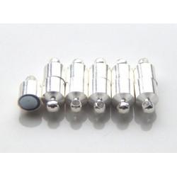 Magnetické zapínanie - postriebrené, 19x6mm