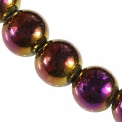 Hematit 8 mm, purpurový