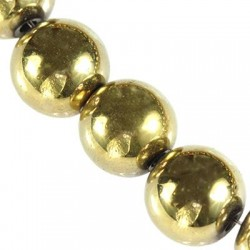 Hematit 8 mm, zlatý