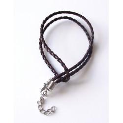 Kožený náhrdelník dvojfarebný