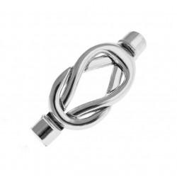 Postriebrené magnetické zapínanie - Slučka, 37x13mm