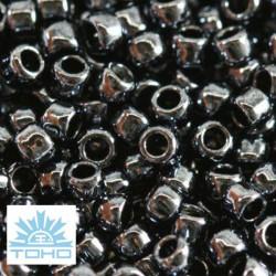 TOHO rokajl (Takumi lh Round 2mm) Metallic hematite