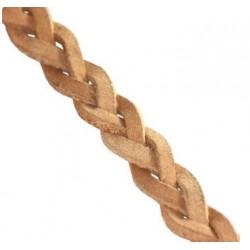 Kožený pletený remienok, natural 5,5mm/0,2m