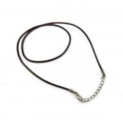 Kožený náhrdelník hnedý