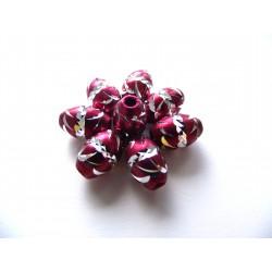 Aluminio burgundy ovals