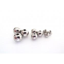 Korálky - kovový vzhľad, 6 mm