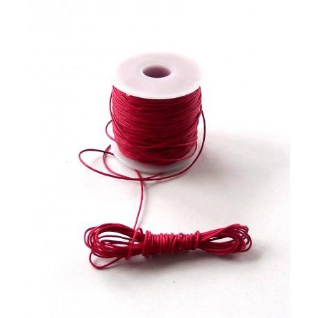 Povoskovaná šnúrka Červená 1mm
