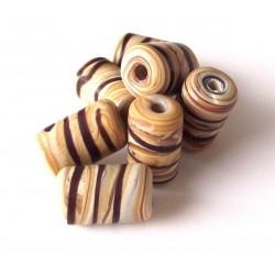 Wooden striato tubes