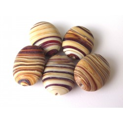 Wooden toffee ovals