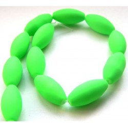 Sklenená olivka - neón, zelená