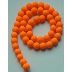 Sklenená korálka - neón, oranžová /5ks