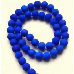 Sklenená korálka - neón, tmavo modrá /5ks