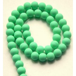 Sklenená korálka - neón, bledučko zelená /5ks
