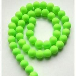Sklenená korálka - neón, zeleno-žltá /5ks