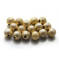 Akrylové korálky Stardust gold /10ks