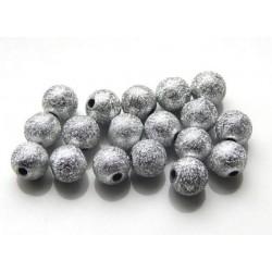 Akrylové korálky Stardust silver /10ks