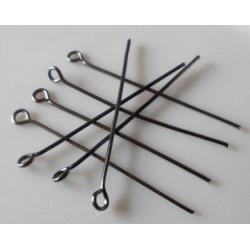 Ketlovacie ihly - hematit, 20x0,7mm