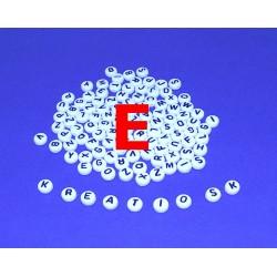 E - Akrylové písmenko, biele /2ks