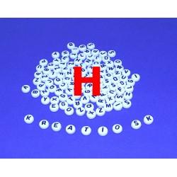 H - Akrylové písmenko, biele /2ks