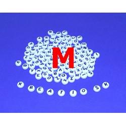 M - Akrylové písmenko, biele /2ks