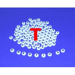 T - Akrylové písmenko, biele /2ks