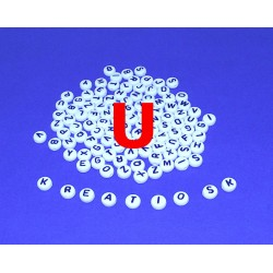 U - Akrylové písmenko, biele /2ks