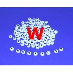 W - Akrylové písmenko, biele /2ks