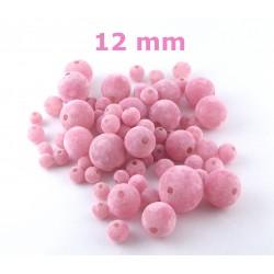 Zamatky - Ružové /12mm