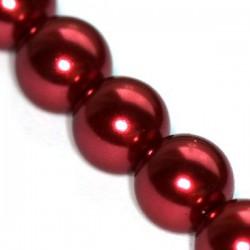 Sklenené perličky Maroon 12mm /2ks
