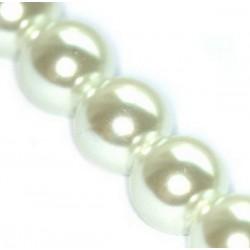 Sklenené perličky White 12mm /2ks