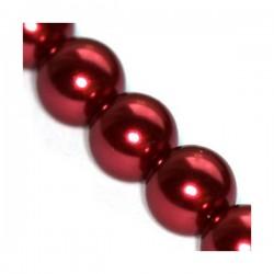 Sklenené perličky Maroon 10mm /5ks