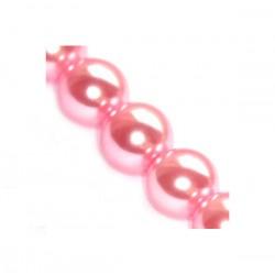 Sklenené perličky Pink 6mm /12ks