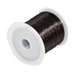 Elastický silikónový vlasec čierny - 0,6mm /10m