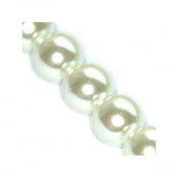 Sklenené perličky White 8mm /10ks