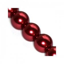 Sklenené perličky Maroon 8mm /10ks