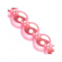 Sklenené perličky Pink 8mm /10ks