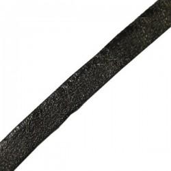 Kožený remienok, čierny