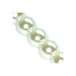 Sklenené perličky White 6mm /12ks