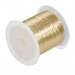 Elastický silikónový vlasec medový - 0,6mm /10m