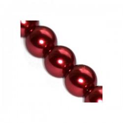 Sklenené perličky Maroon 6mm /12ks